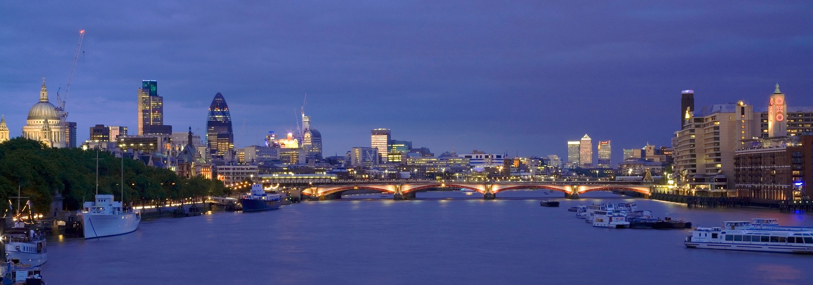 River Thames at night