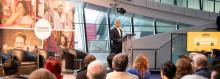 Mayor of London speaking to businesses